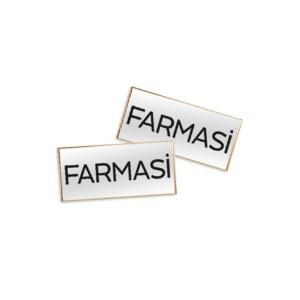 Значок металлический с логотипом Farmasi