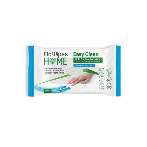 """Влажные чистящие салфетки для всех видов поверхностей """"Океанский бриз"""""""