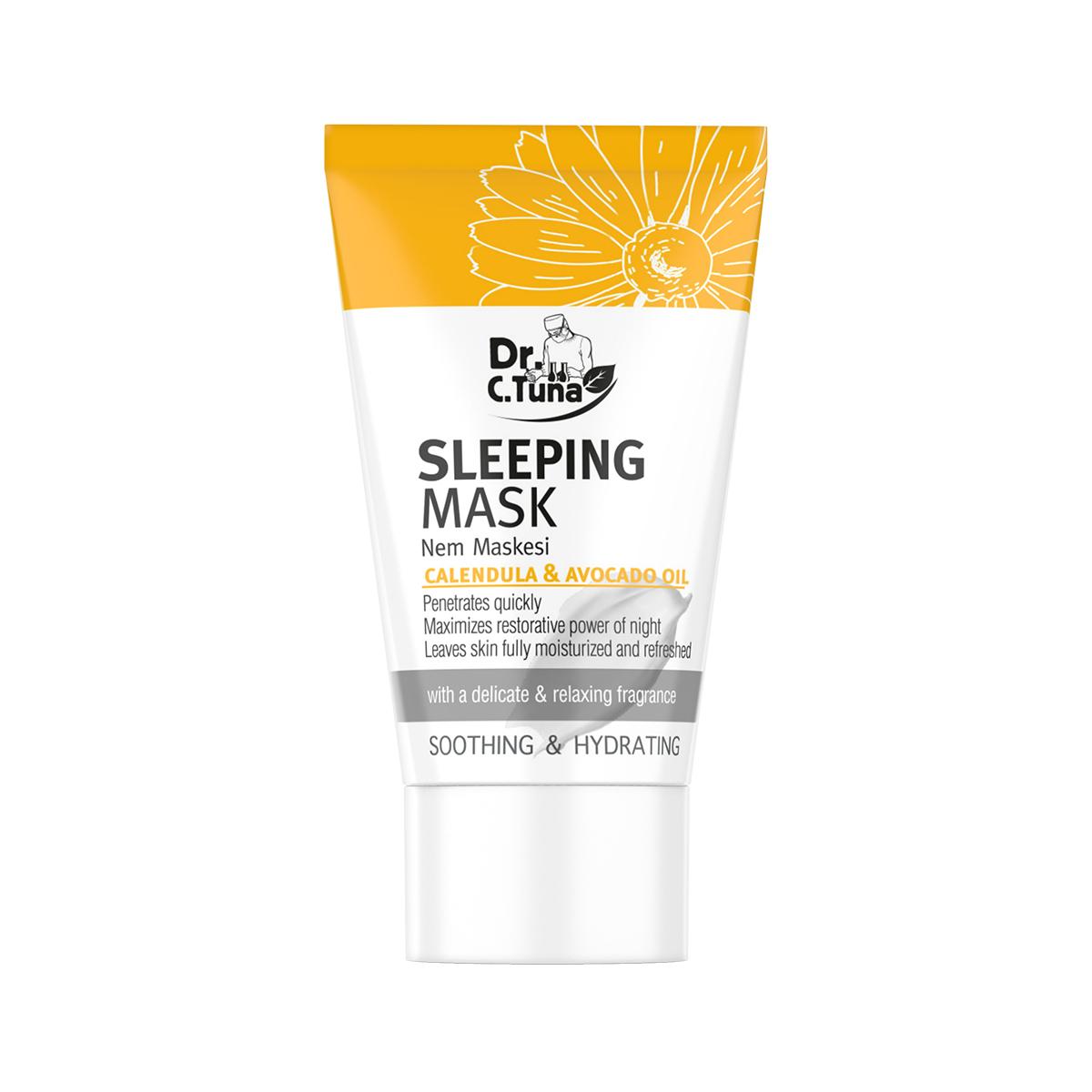 Ночная маска для лица с маслом календулы и авокадо